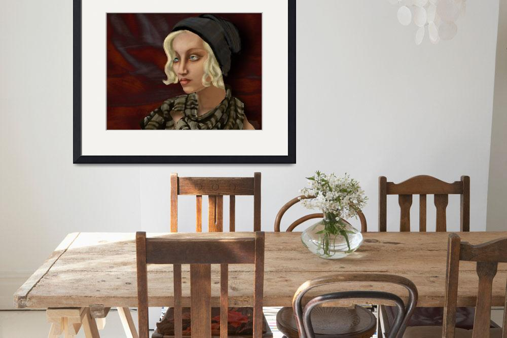 """""""Girl with a Wild Scarf: Ode to Tamara de Lempicka&quot  (2014) by AlmaLee"""