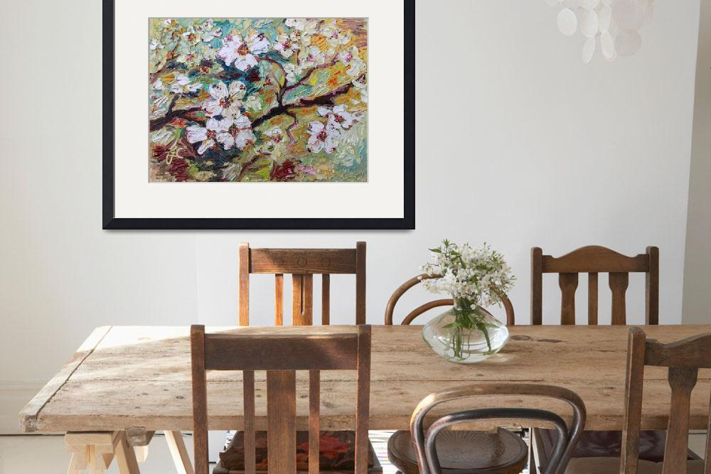 """""""Georgia Dogwood Blossoms Oil Painting&quot  (2015) by GinetteCallaway"""