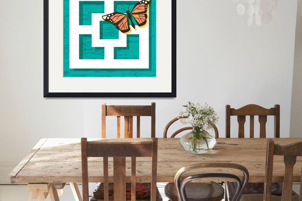 """Mid Century Modern Breeze Block Butterfly Poster&quot  (2018) by DianeDempseyDesign"