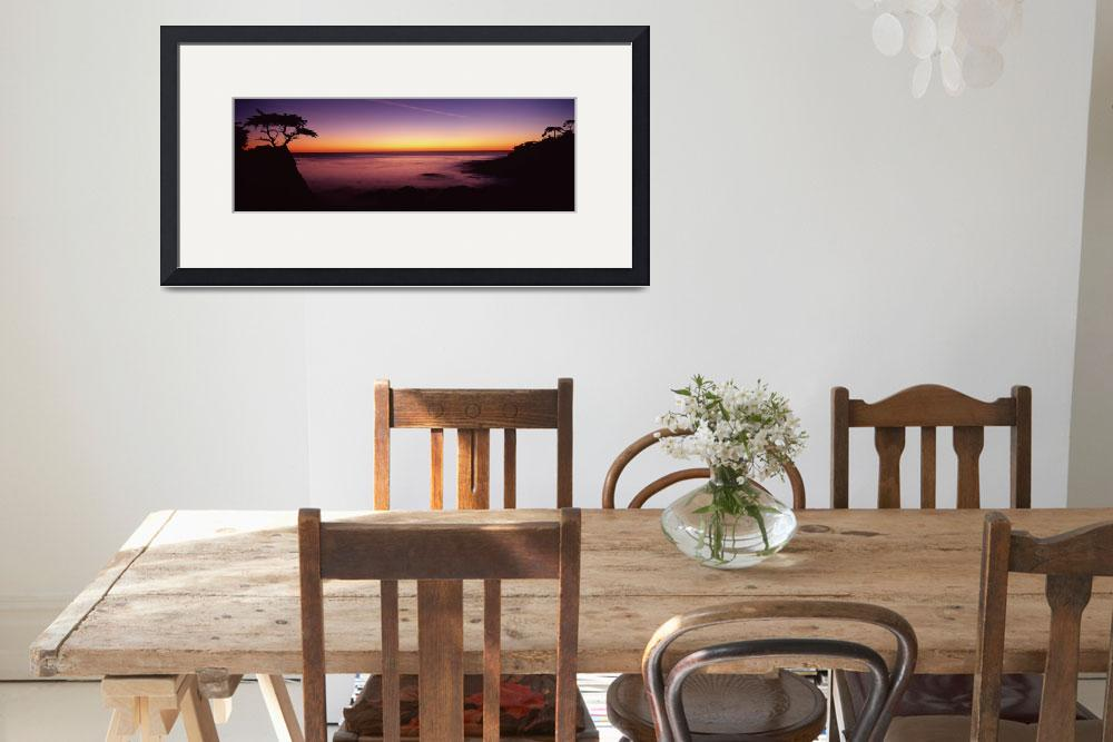 """""""Silhouette of lone cypress tree on a cliff&quot  by Panoramic_Images"""