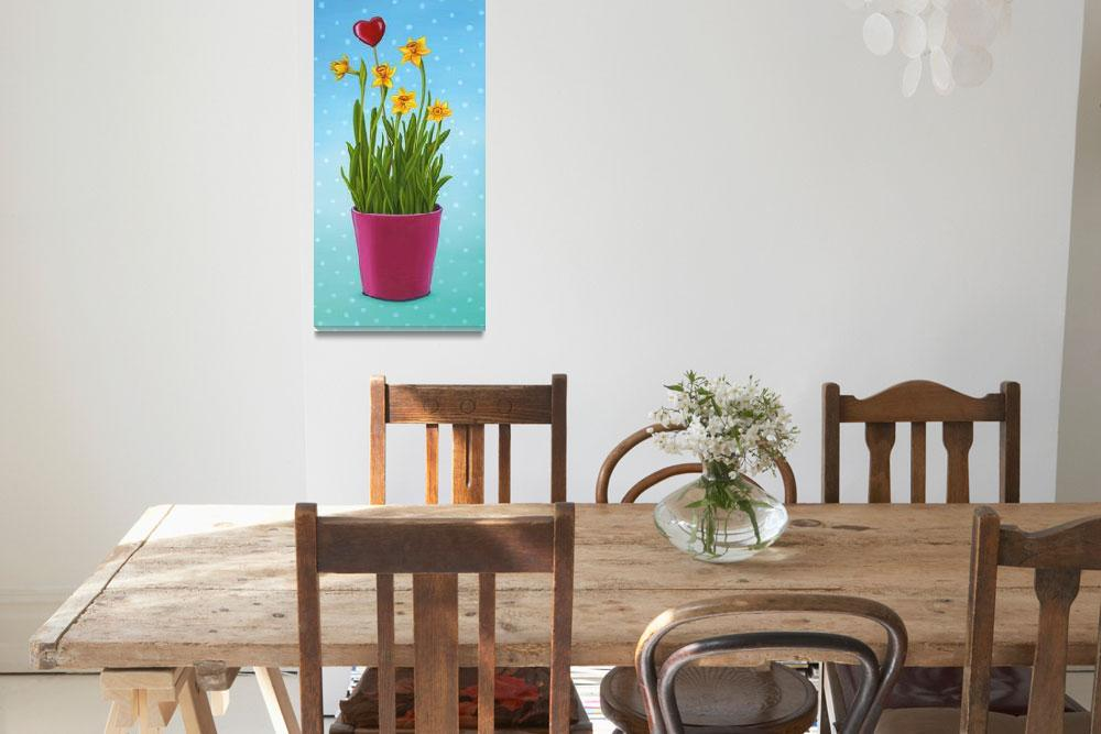 """Yellow Daffodils flowers""  (2014) by nopiepan"