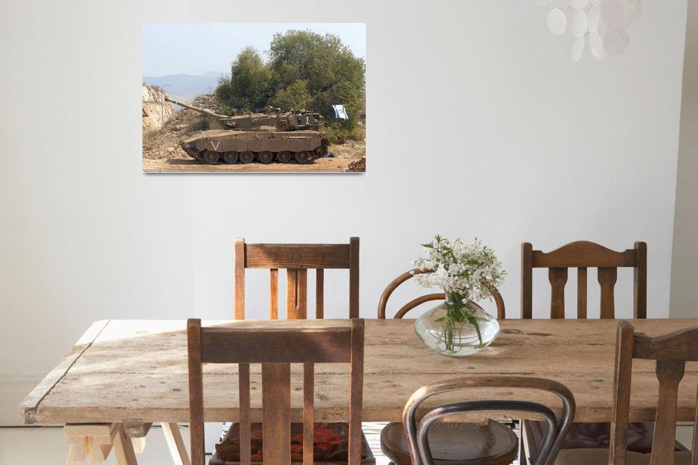 """The Merkava Mark IV main battle tank of the Israel""  by stocktrekimages"