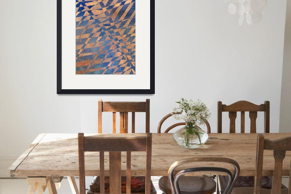 """""""Shades and patterns in blue and orange&quot  by CoraNiele"""