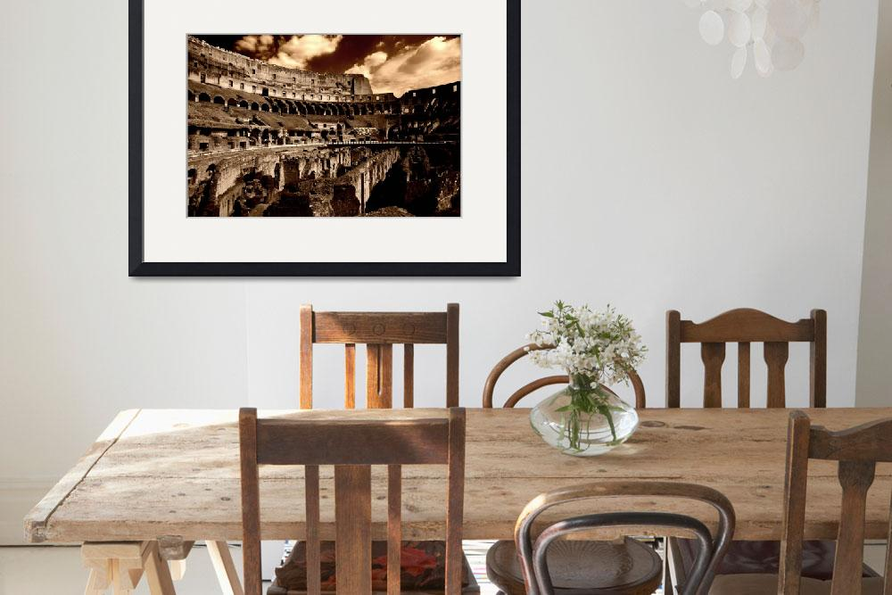 """""""he Colosseum (circa 71 AD)&quot  (2007) by DenisW"""