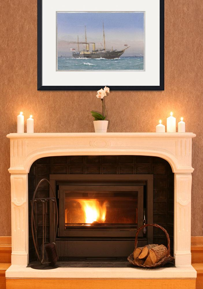 """""""Vintage British Royal Yacht Illustration (1870)&quot  by Alleycatshirts"""