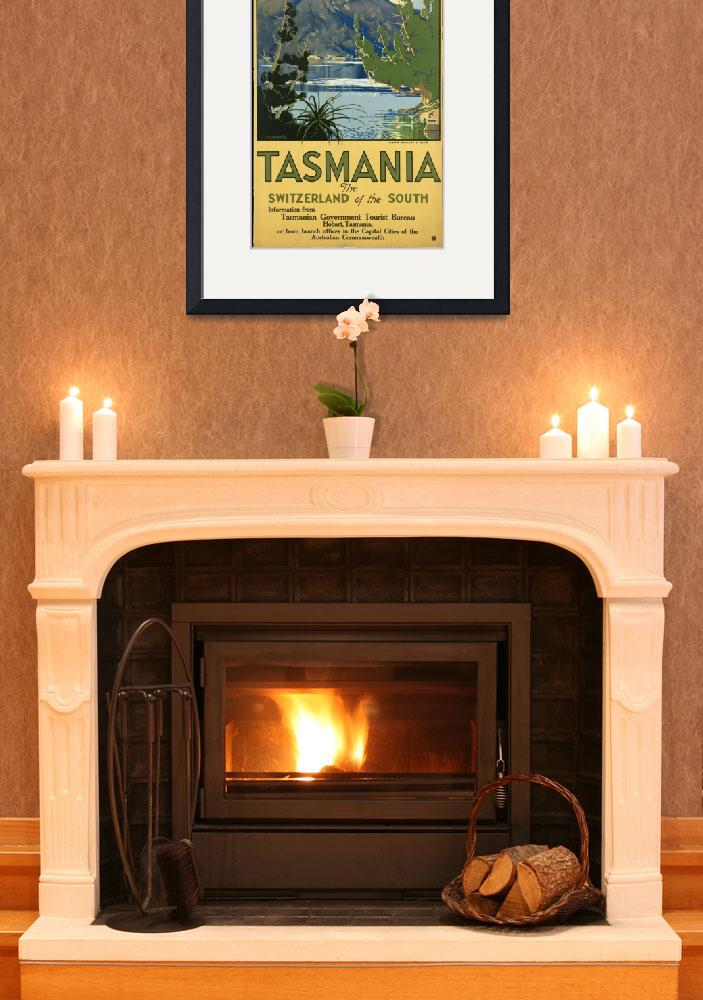 """""""Vintage poster -Tasmania&quot  by mosfunky"""