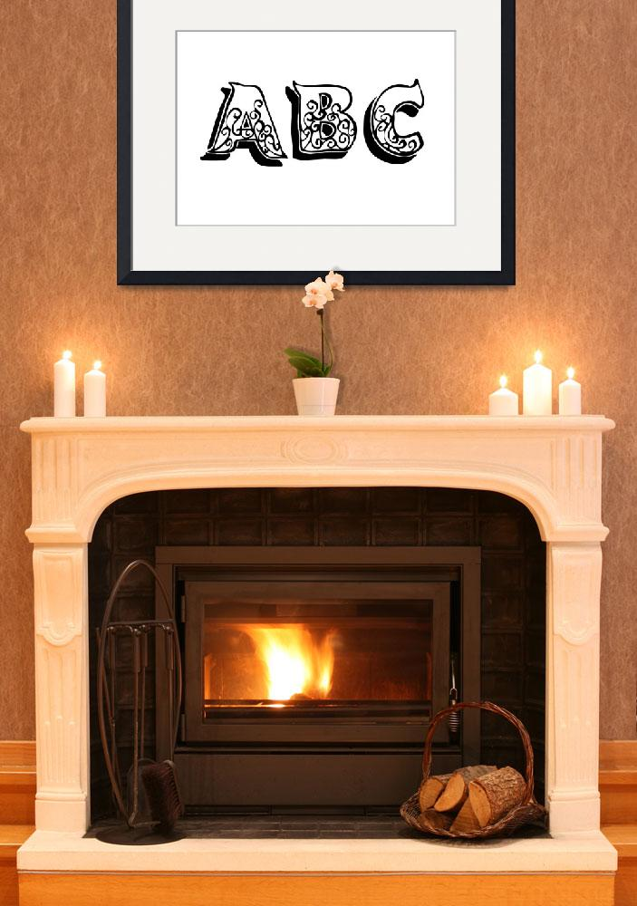 """""""ABC&quot  (2011) by designsbyleigha"""
