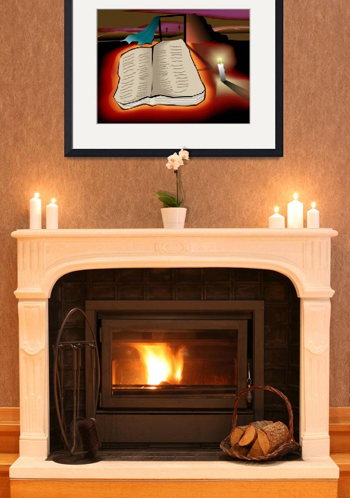 """Book of holy spirit in the light of candle&quot  (2010) by digitalpainting"