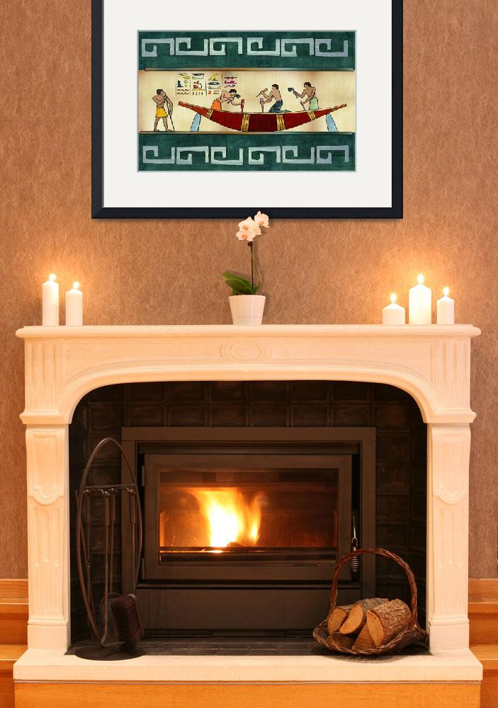 """""""Craftsmanship Traditional Egyptian Motif Framed""""  (2012) by ReneeLozenGraphics"""