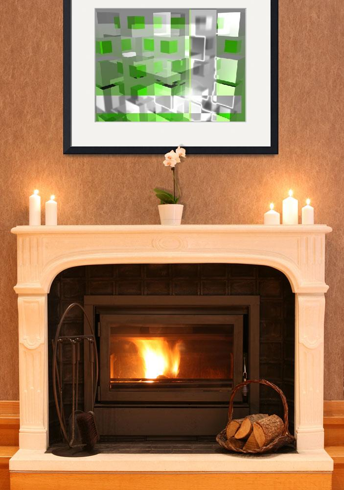 """""""Green Cubes""""  by JeanM"""