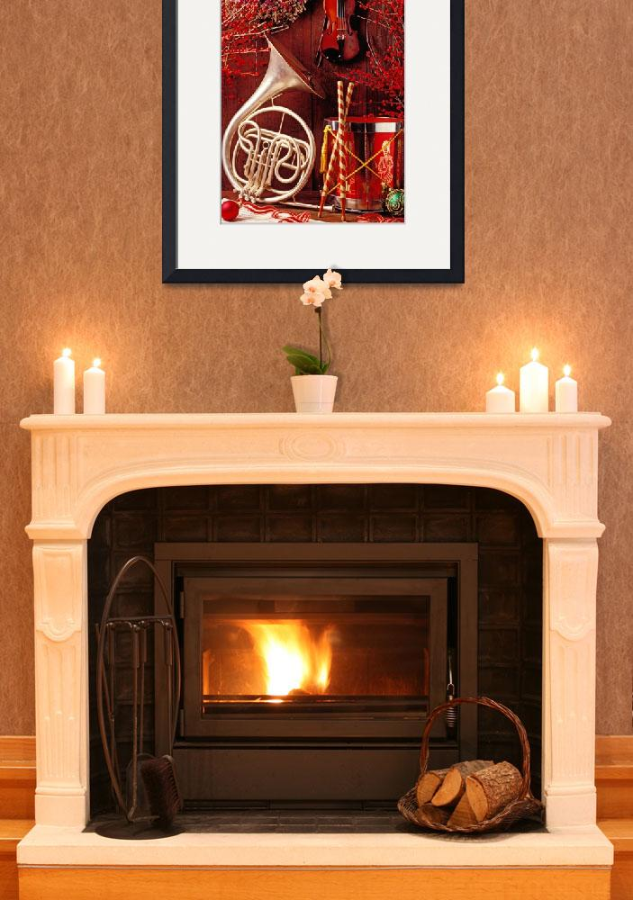 """""""French horn Christmas still life&quot  (2012) by photogarry"""