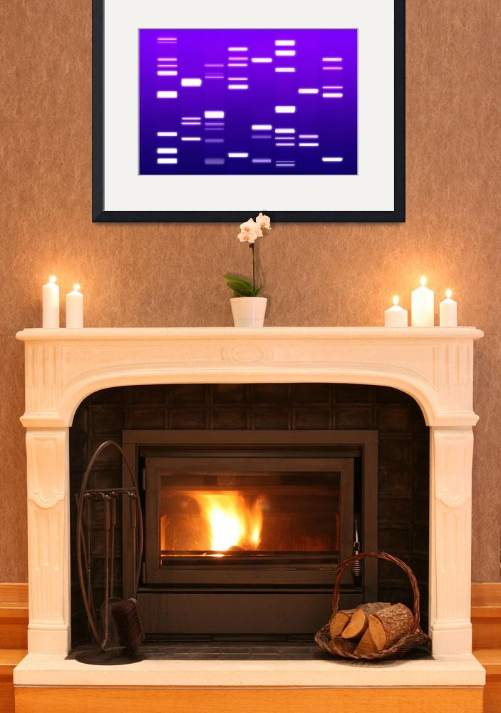 """DNA Art Purple&quot  (2009) by ModernArtPrints"