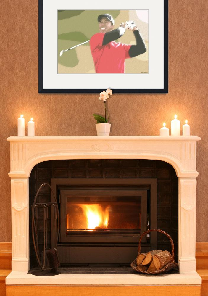 """""""Tiger Woods Golf Champion&quot  (2010) by leuchars"""