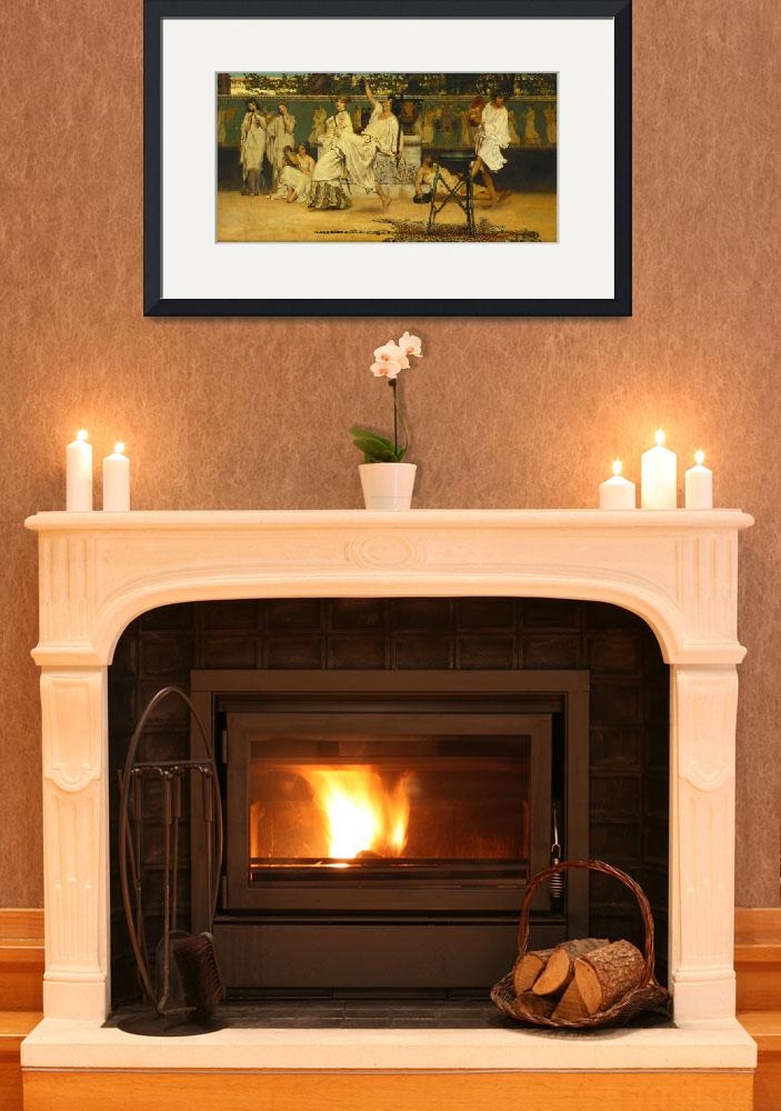 """Bacchanal by Sir Lawrence Alma-Tadema&quot  by fineartmasters"