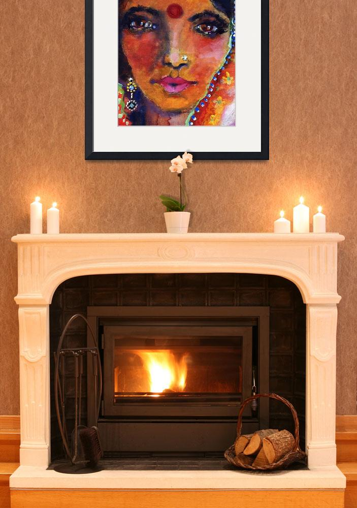 """""""Indian Woman with Red Bindi&quot  (2008) by GinetteCallaway"""