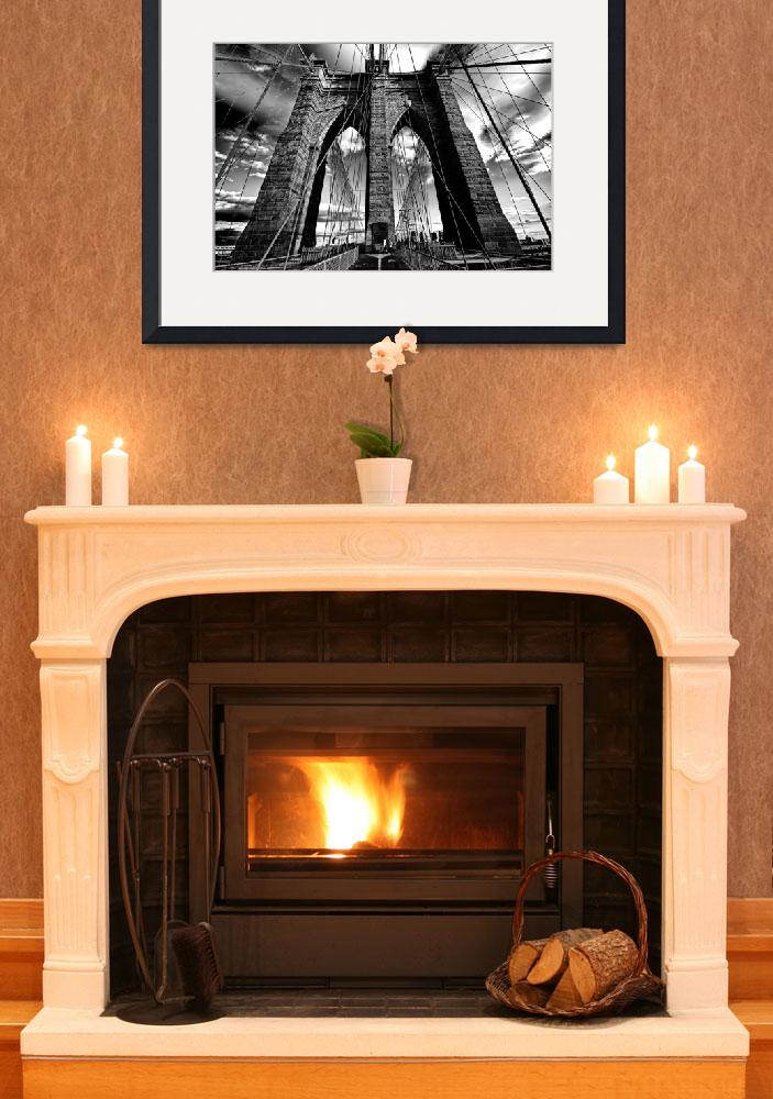 """""""Brooklyn Bridge in Black & White&quot  (2010) by New-Yorkled"""