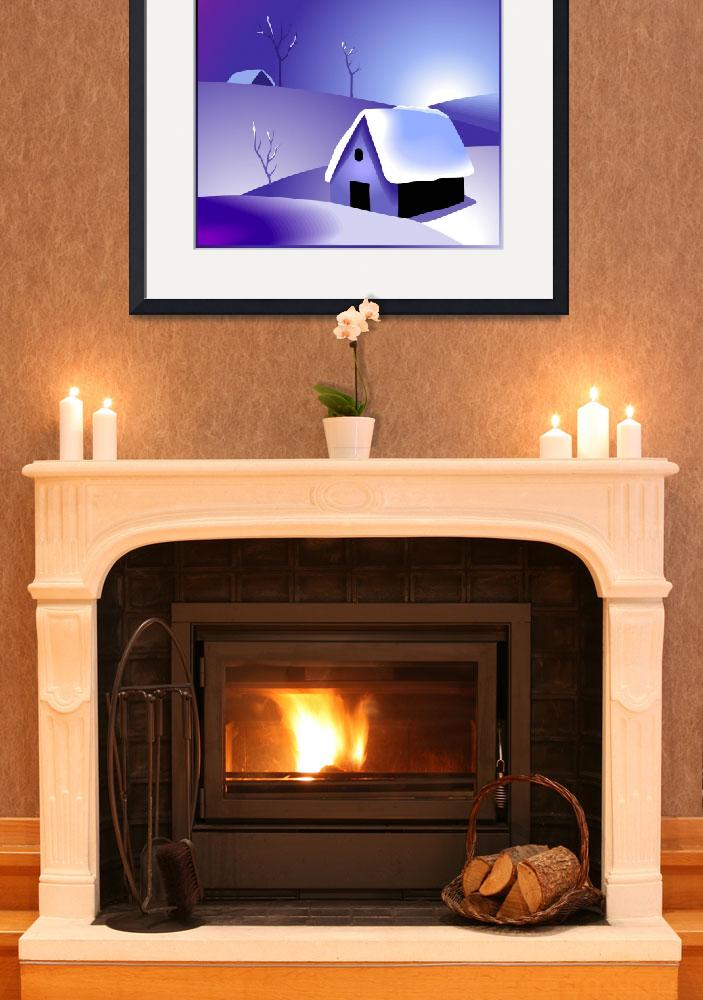 """""""Beauty of the house in a winter climate&quot  (2011) by digitalpainting"""