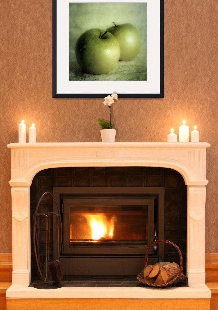 """""""apple painting&quot  by Piri"""