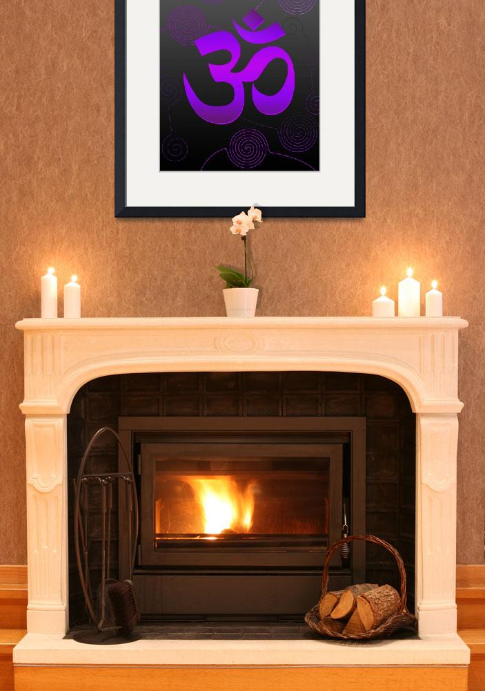 """""""Purple OM Sign&quot  (2010) by desi"""