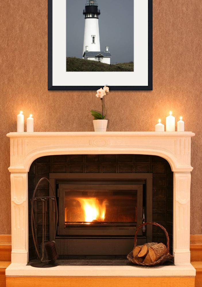 """""""Yaquina Head Lighthouse Active""""  (2009) by ClotheslineArt"""