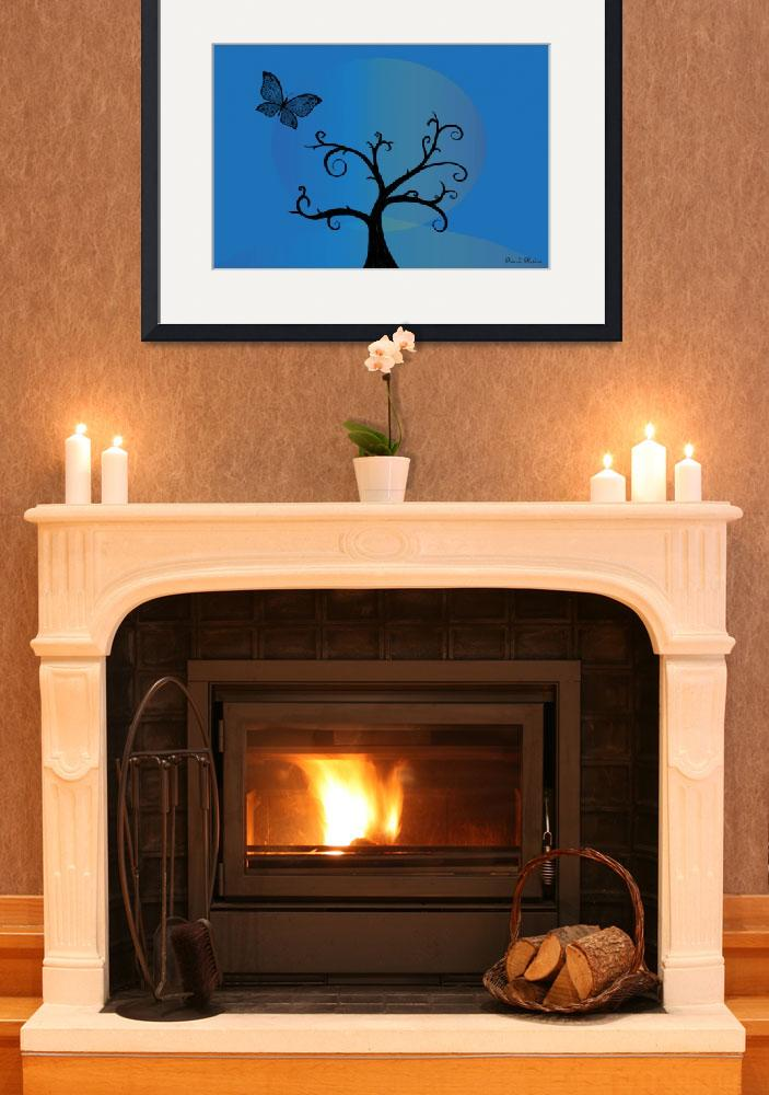 """Last Tree Standing - Blue&quot  (2008) by ProvencalDesigns"