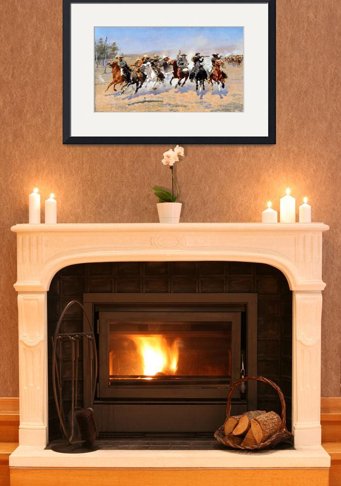 """""""Frederic Remington Dash for the Timber&quot  by PDGraphics"""