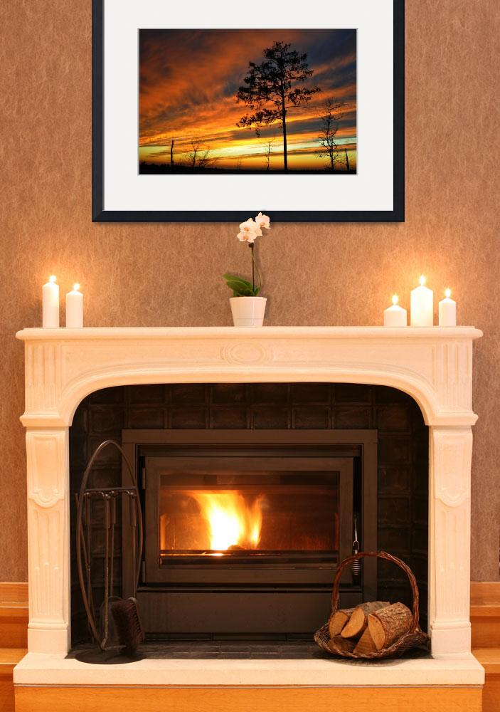 """""""Fire Sunset&quot  (2009) by ldfranklin"""
