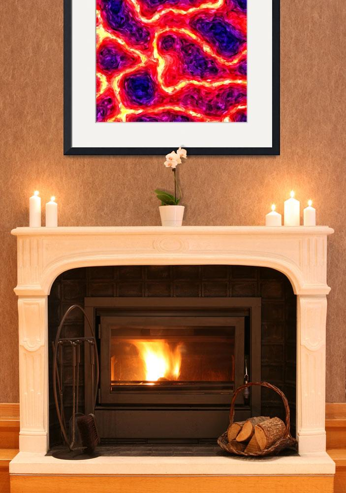 """""""vulcano abstraction oil painting&quot  by KrisLeov"""