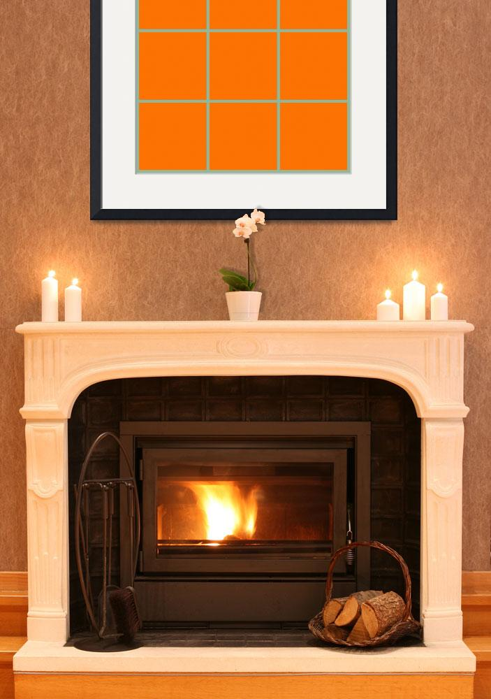 """Orange Window 097 Canvas Contemporary Modern&quot  (2010) by Ricardos"