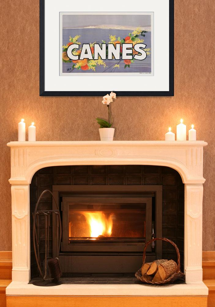 """""""Advertisement for Cannes, printed by Draeger, 1930&quot  by fineartmasters"""