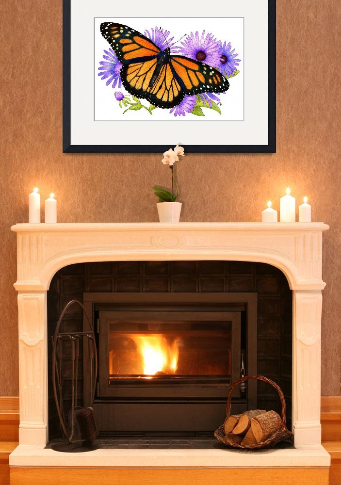 """""""Monarch Butterfly&quot  (2009) by inkart"""