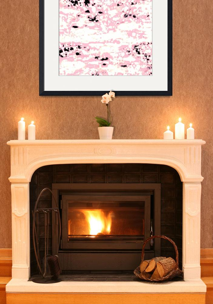 """""""Abstract Lava Pattern In Light Pink And White""""  by GittaG74"""