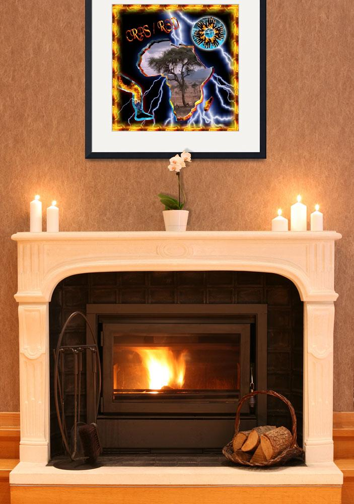 """""""CRPS South Africa Fire & Ice Starburst Flame Frame&quot  (2010) by Samantha_Adcock"""