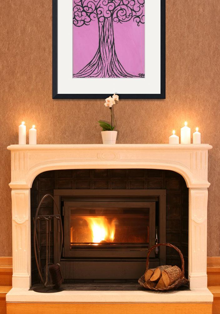 """""""Pink is the new black, sophisticated tree&quot  (2011) by PinkiDee"""