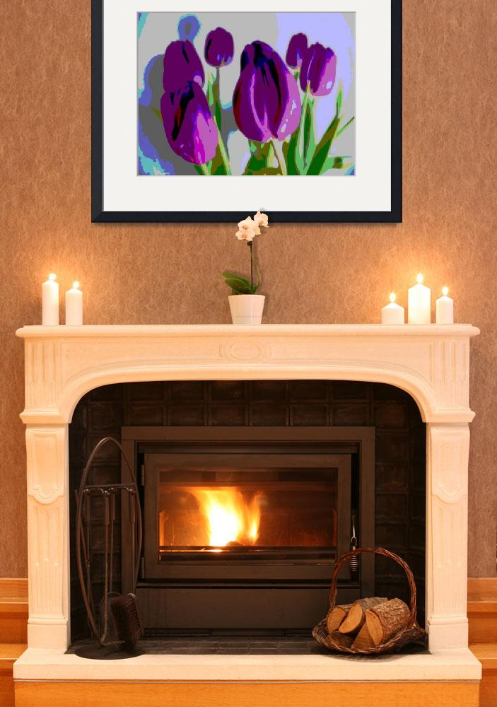 """""""Violet Tulips II""""  (2014) by TheNorthernTerritory"""