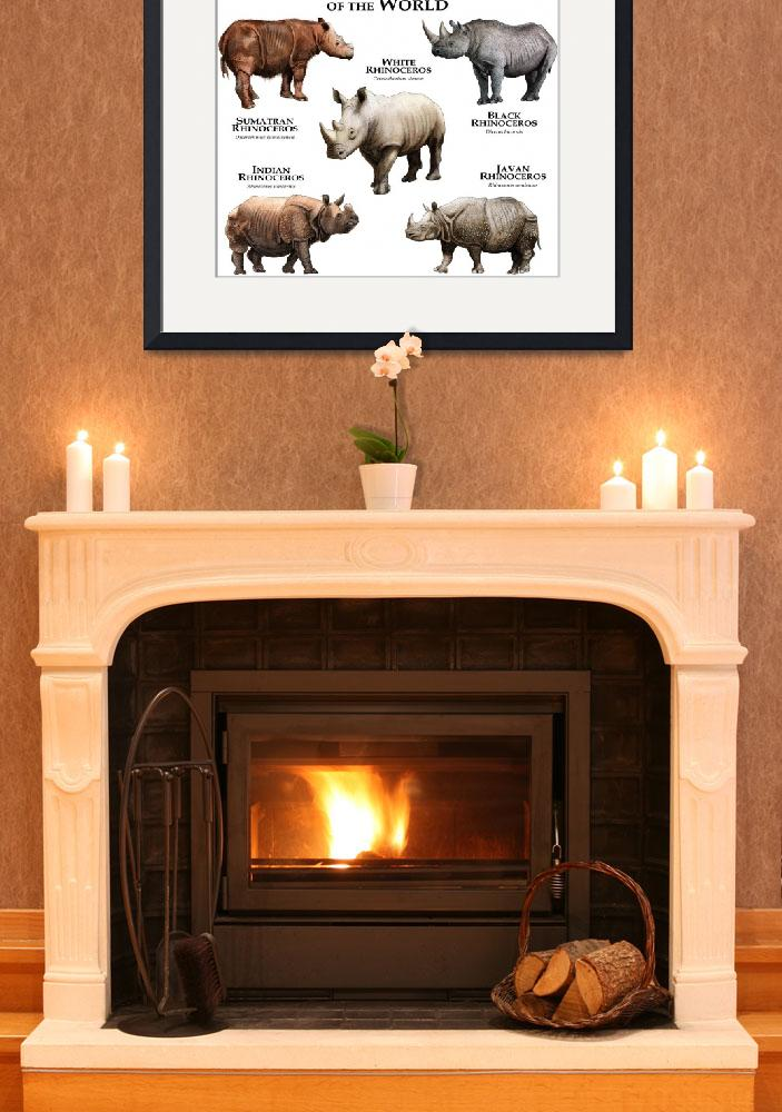 """""""Endangered Rhinoceros of the World&quot  by inkart"""