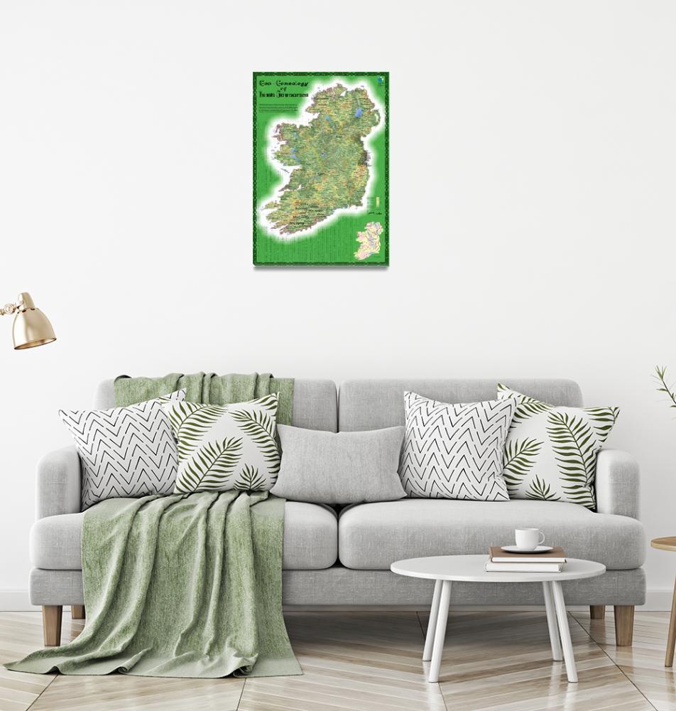"""Geo-genealogy of Irish Surnames""  (2009) by cartonerd"