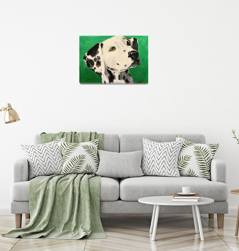 """Dalmatian On Green""  (2013) by Rmbartstudio"