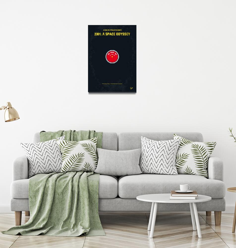 """""""No003 My 2001 A space odyssey 2000 minimal movie p""""  by Chungkong"""