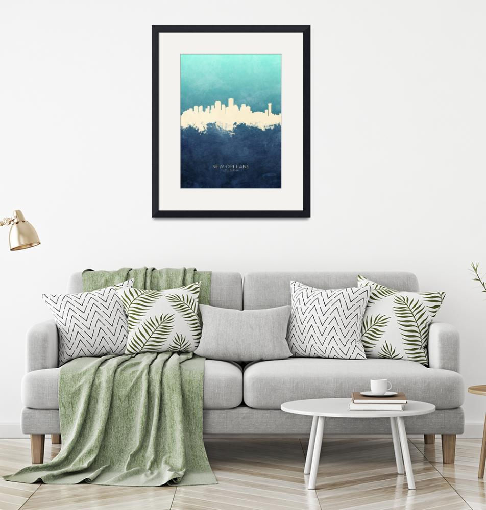 """New Orleans Louisiana Skyline""  (2019) by ModernArtPrints"