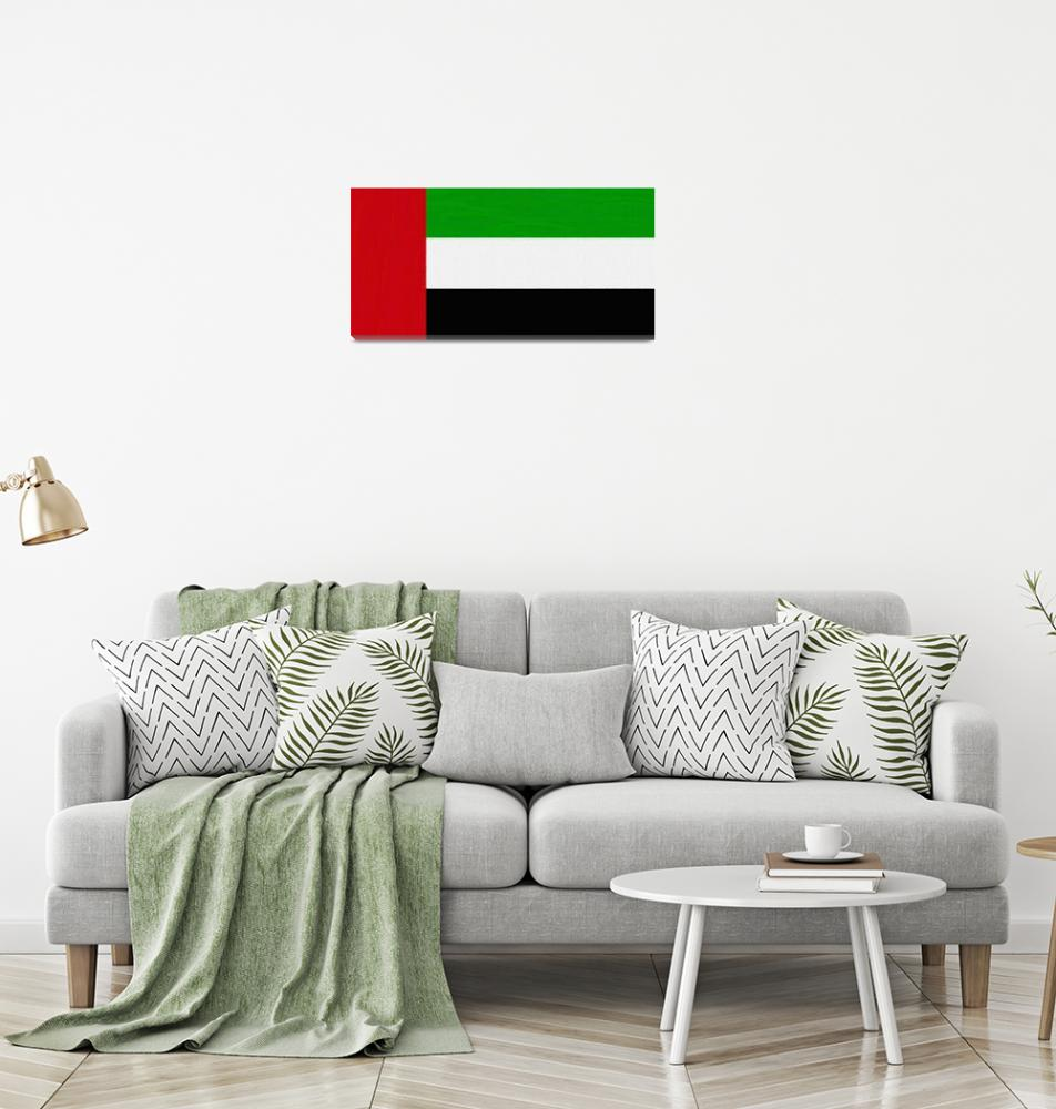 """Flag of United Arab Emirates ,  County Flag Painti""  by motionage"