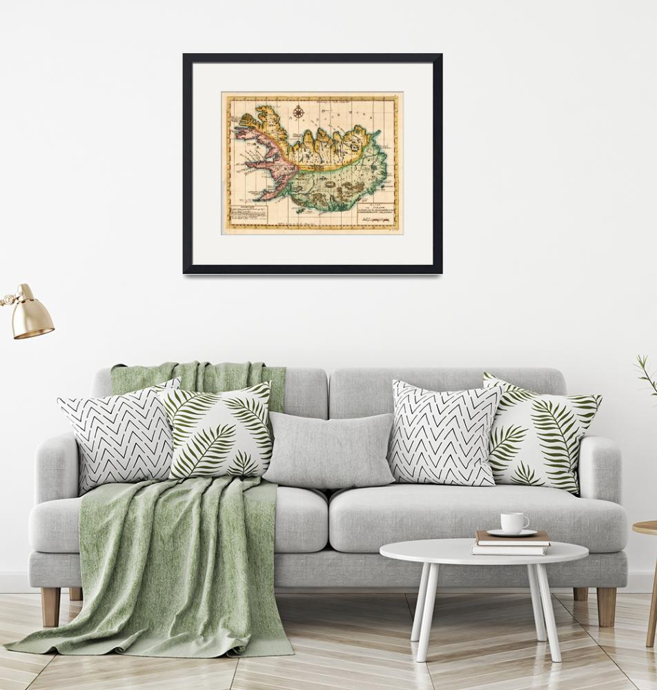 """""""Vintage Map of Iceland (1756)""""  by Alleycatshirts"""