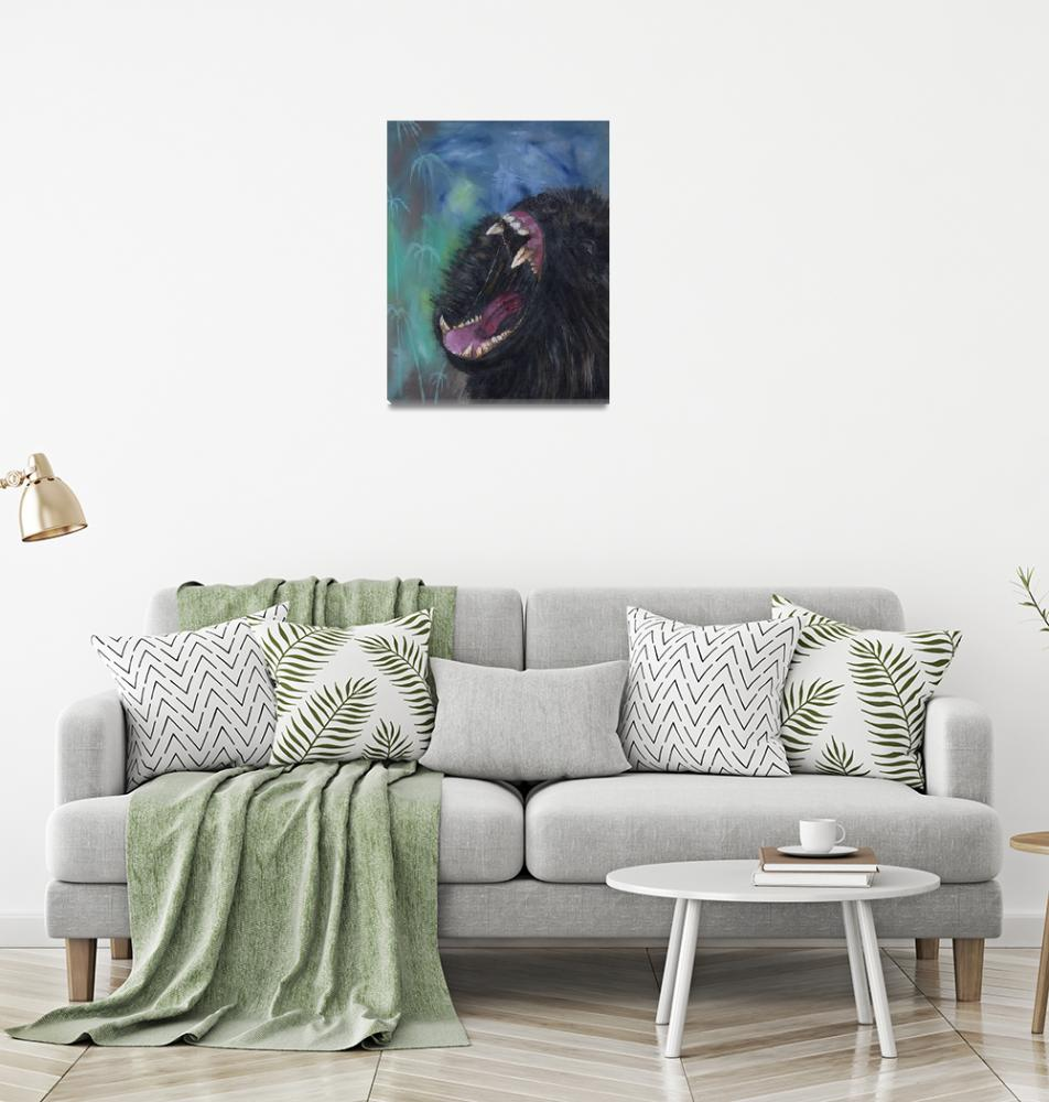 """""""Angry Baboon Acrylic Painting""""  (2020) by southafricaphotos"""
