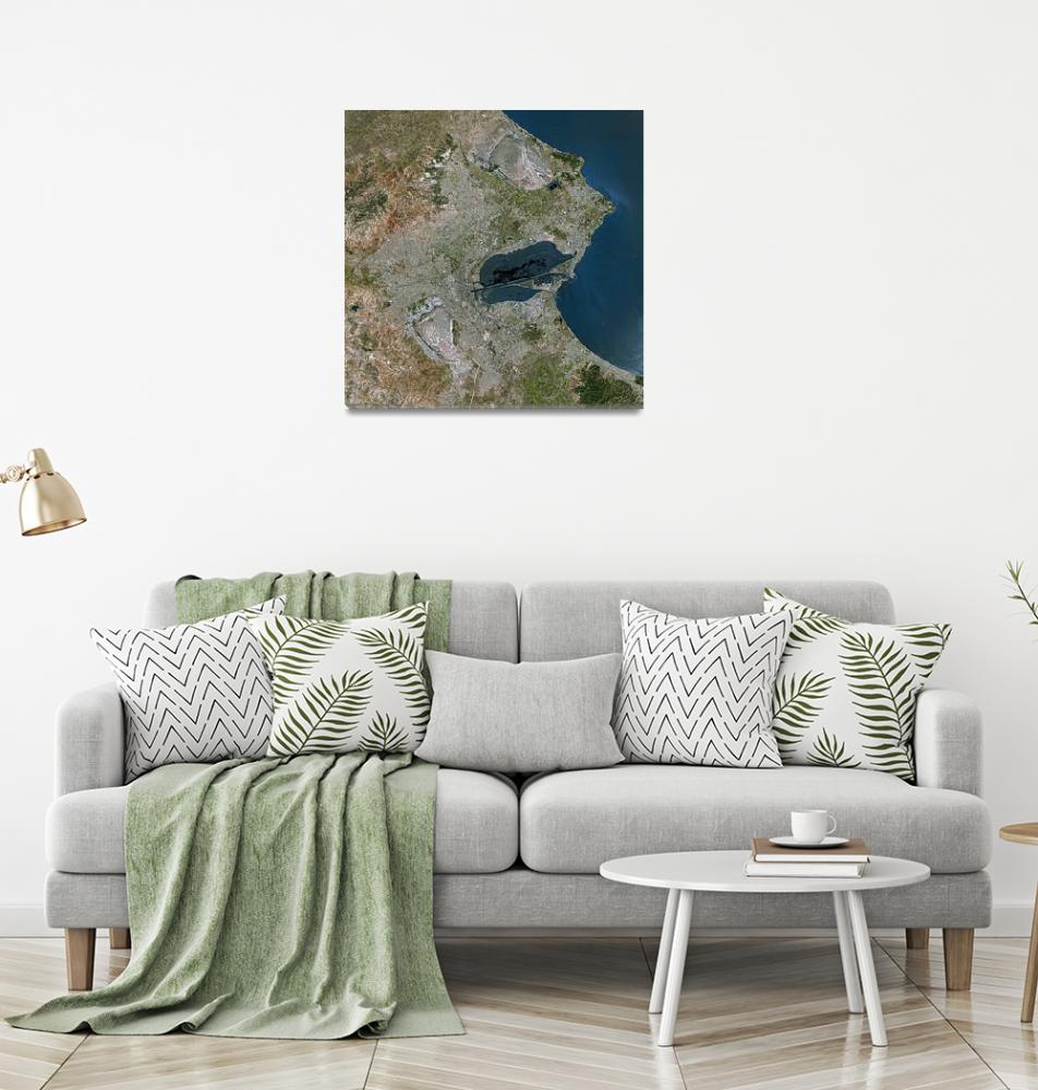 """Tunis (Tunisia) : Satellite Image""  (2002) by astriumgeo"