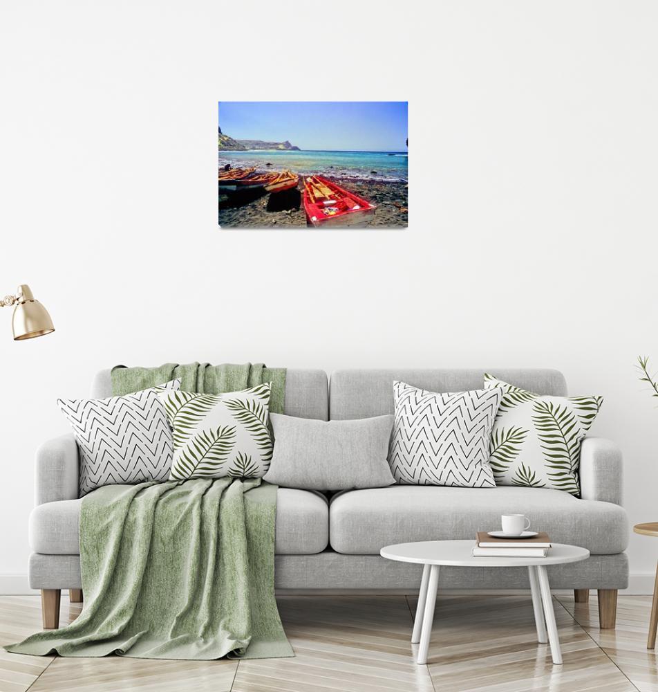 """Ribeira da Barca Fishing Harbor""  (1988) by JoaoPonces"