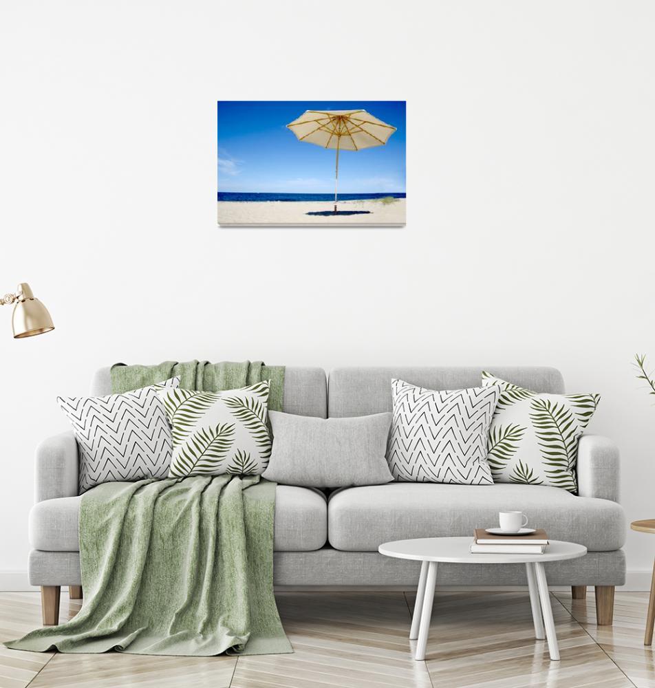 """Cape Cod Beach & Umbrella""  (2020) by ChrisSeufert"