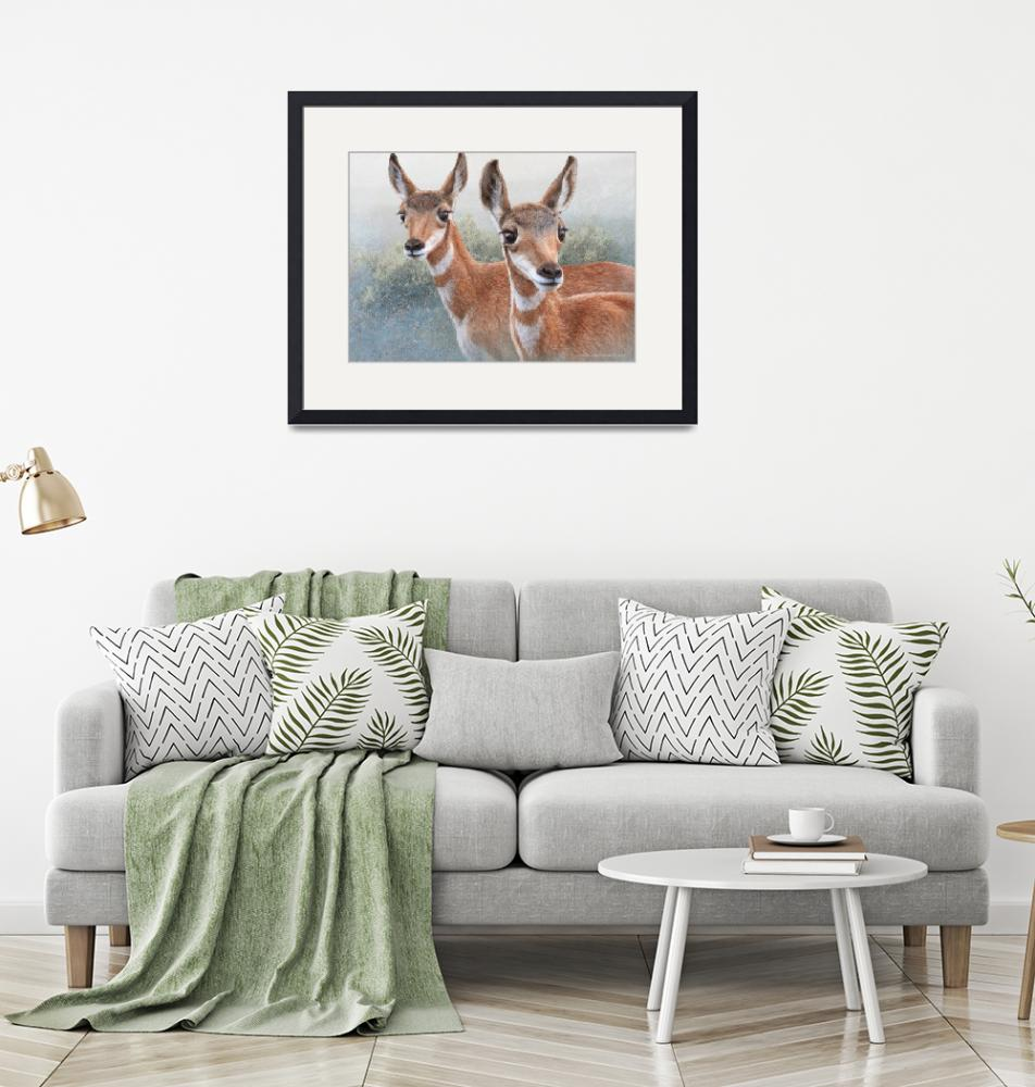 """""""sibling fawn pronghorns""""  (2016) by rchristophervest"""