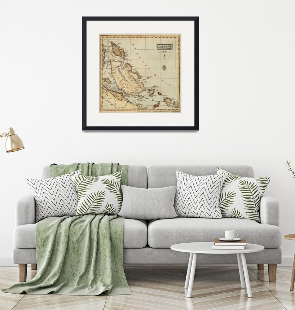 """""""Vintage Map of The Bahamas (1823)""""  by Alleycatshirts"""