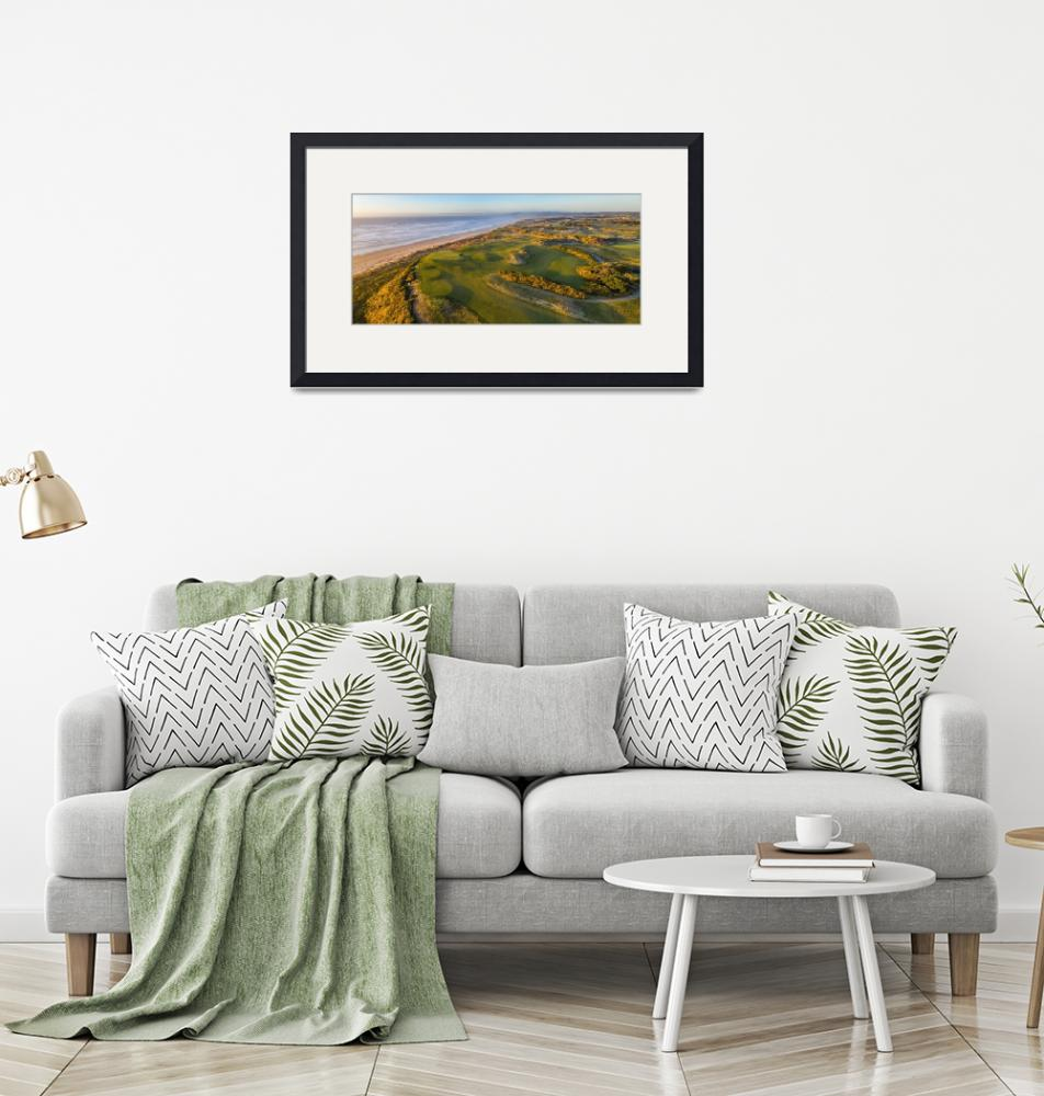 """""""Panoramic View of Hole 16 at Bandon Dunes""""  (2020) by centioliphotography"""