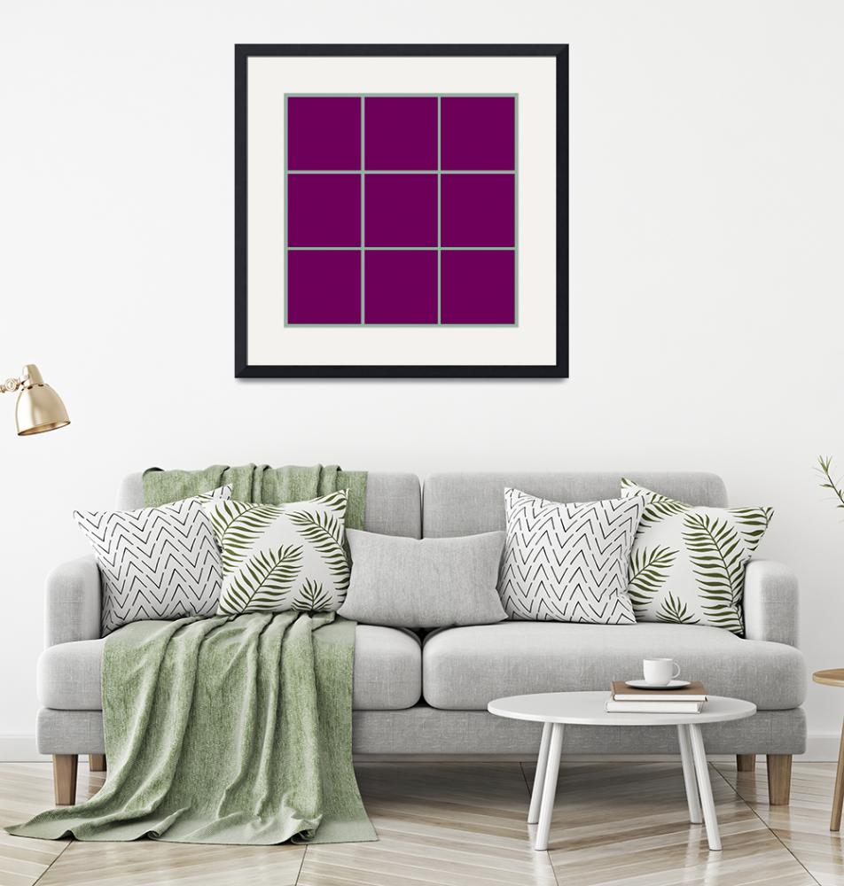 """Violet Window 189 Canvas Contemporary Modern""  (2010) by Ricardos"